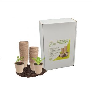 50 Bio Pots White with pots website
