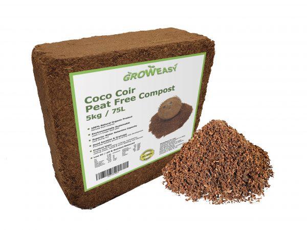 coco coir block 5kg 70L