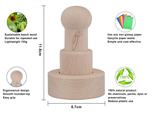 Paper pot maker infographic