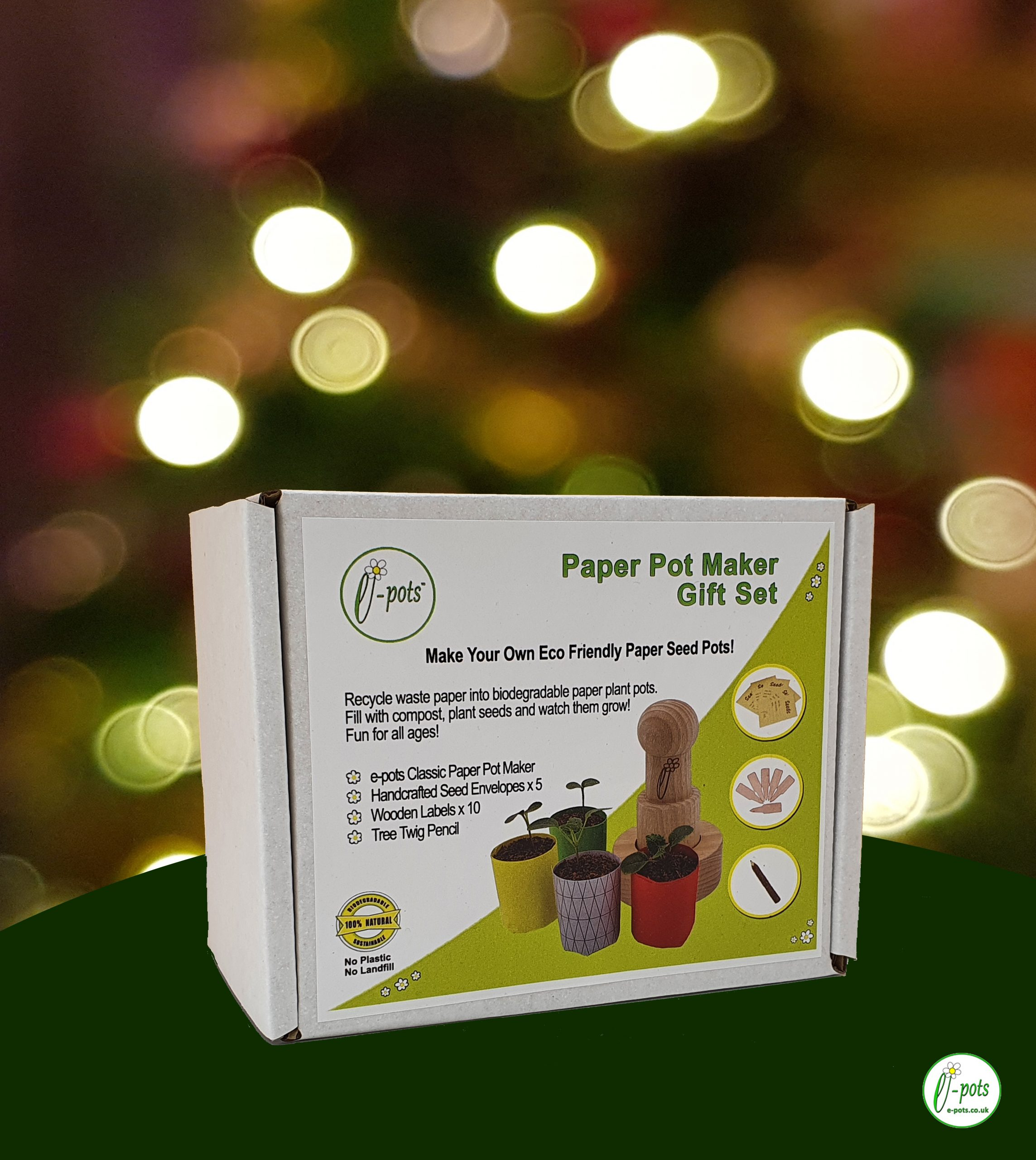 Paper pot maker gift set xmas